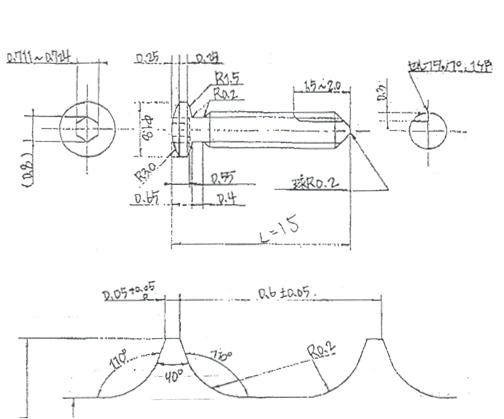 チタン材(Ti6Al-4V)の細ネジ(スクリュー)加工